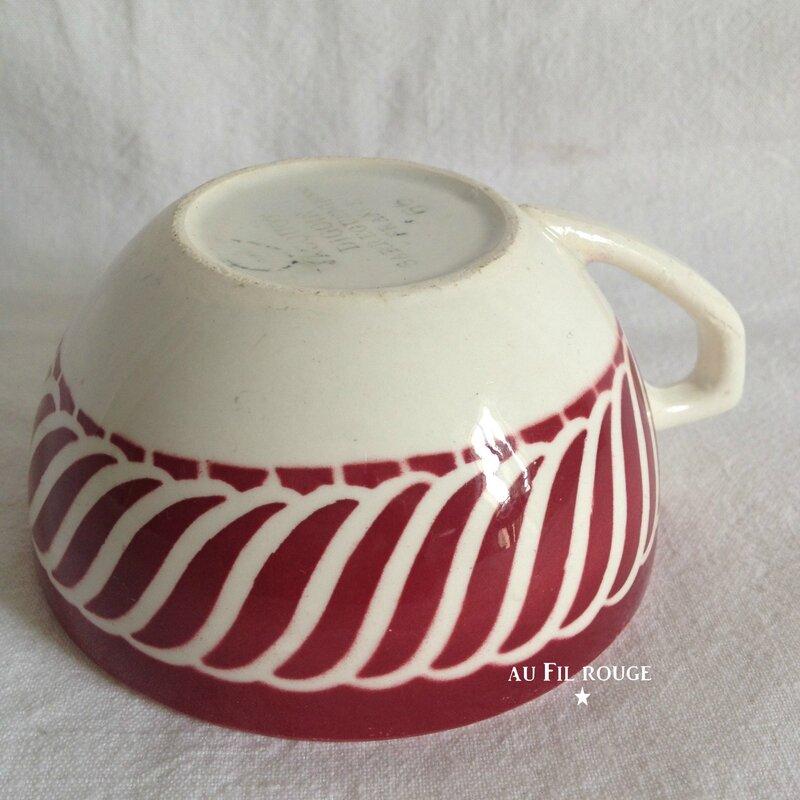 Tasse à café Jacquot rouge diam 8 cm
