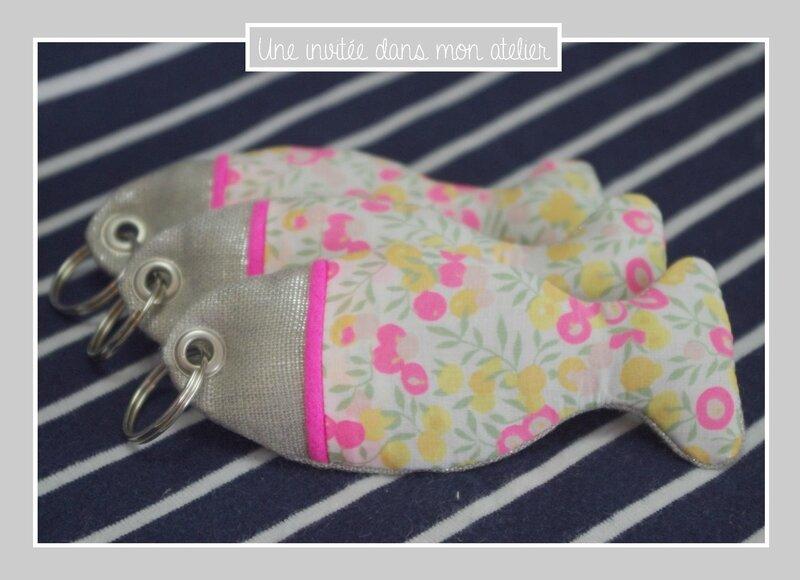porte-clés-poisson-lin irisé-Liberty-wiltshire-lemon curd