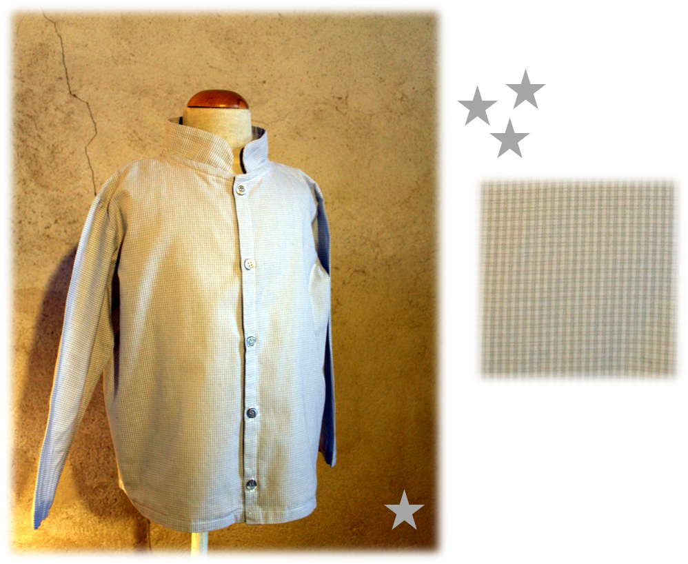 Chemise col mao grise