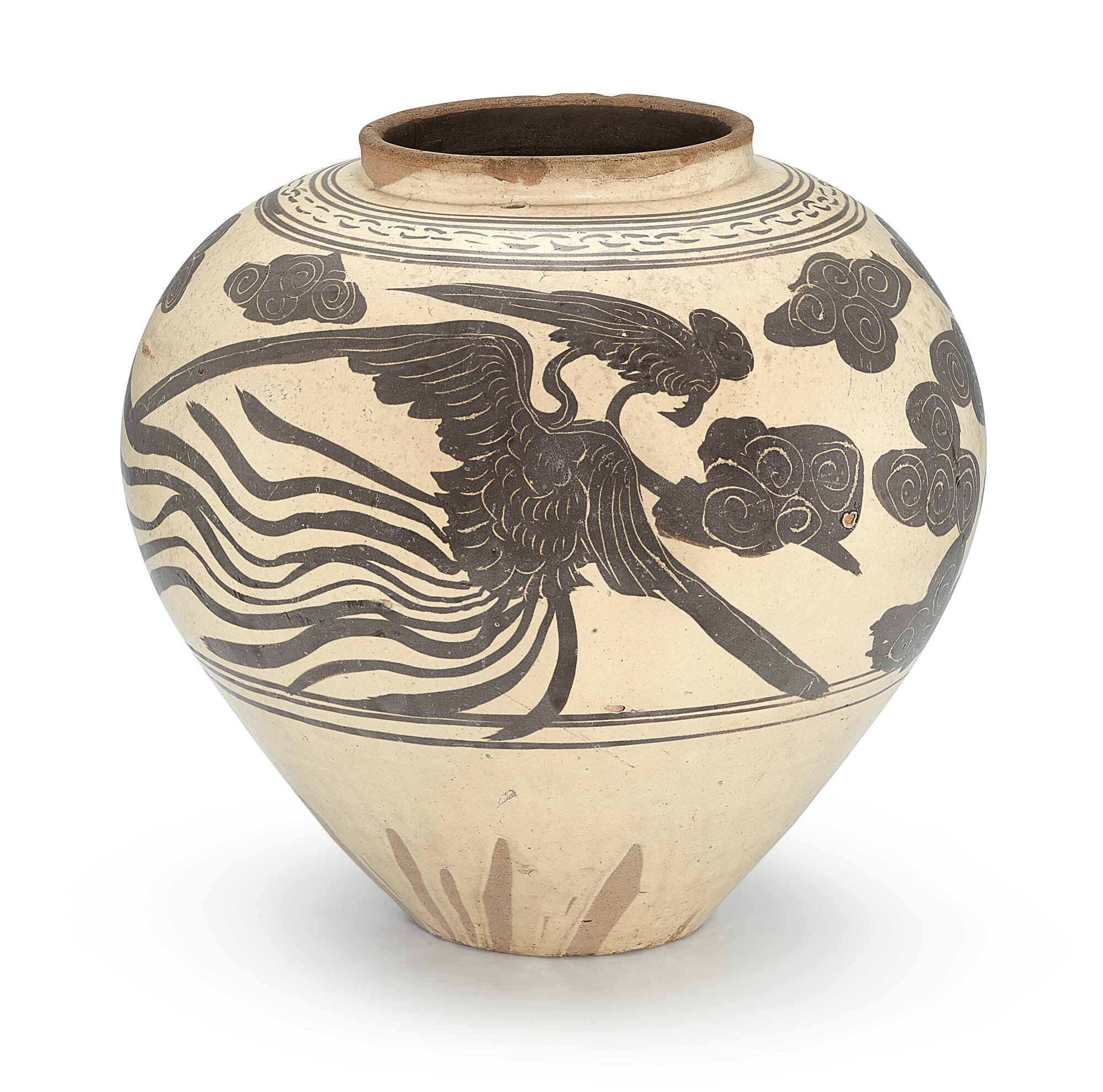 A Cizhou painted and incised 'phoenix' jar, Jin – Yuan dynasty