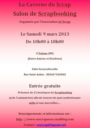 Affiche salon so scrap talmas