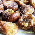 Crêpes soufflées aux raisins au rhum