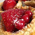 Tartelettes à la fraise et au Nutella