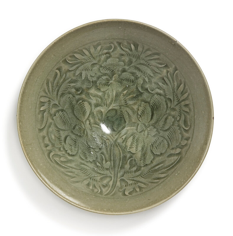 A large 'Yaozhou' ''floral' bowl, Northern Song dynasty (960-1127)