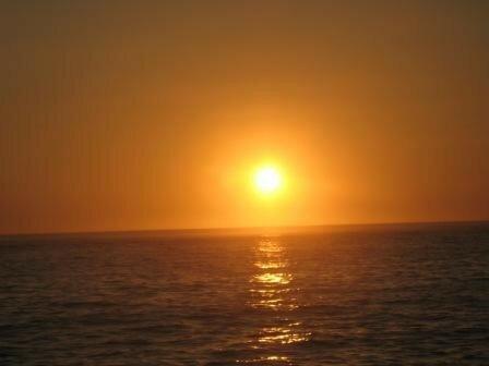 couché de soleil orange
