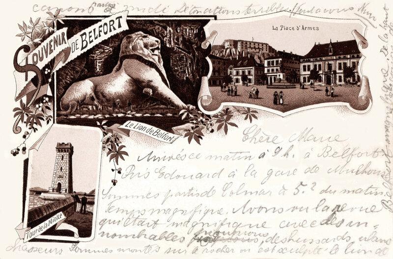 1892-95 cpa datée 1895 R