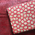 18-266 tissu marignan petits bouquets fleuris fond rouge
