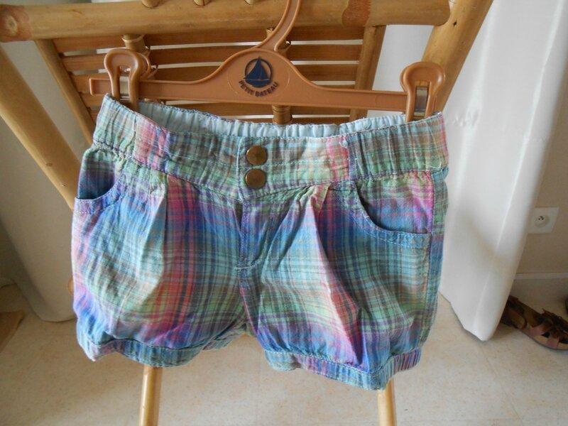 short coton, H&M, 3-4ans