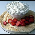Pancakes hollandais, fraises et chantilly