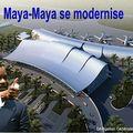 Maquette de la prochaine aérogare de Brazzaville