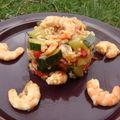 Riz aux legumes et crevettes