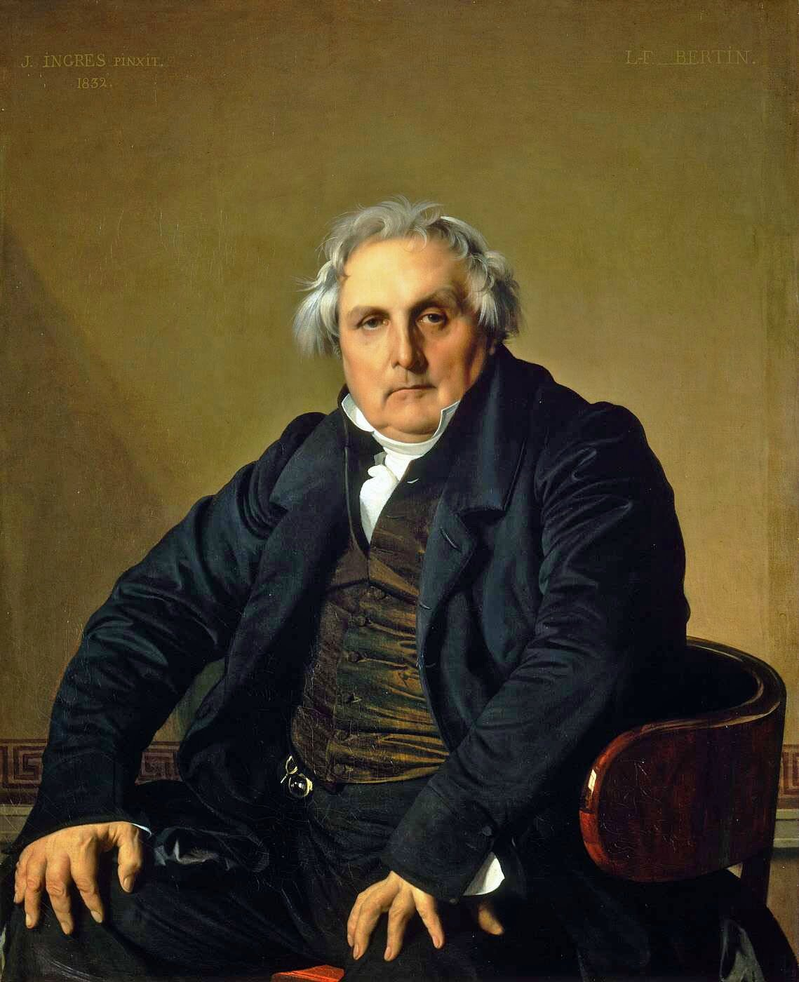 Jean-Auguste-Dominique Ingres - Portrait of French journalist Louis-François Bertin 1832