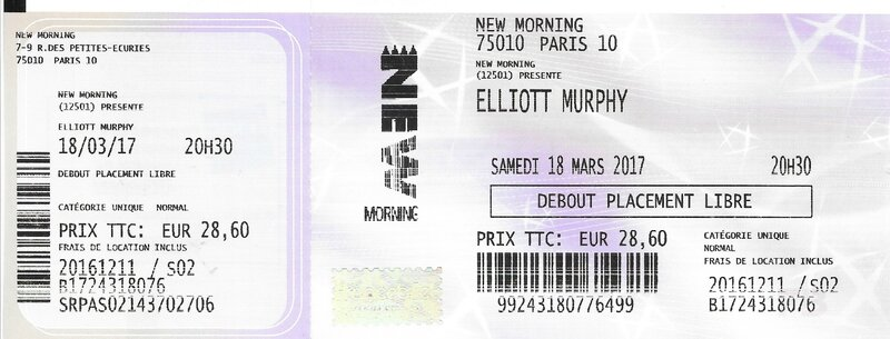 2017 03 18 Elliott Murphy New Morning Billet