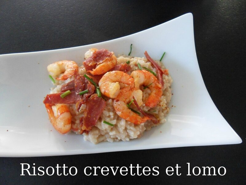 risotto crevettes et lomo
