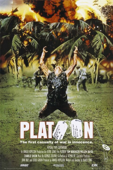Affiche Film Platoon Oliver Stone