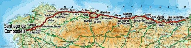 cartographie Camino del Norte