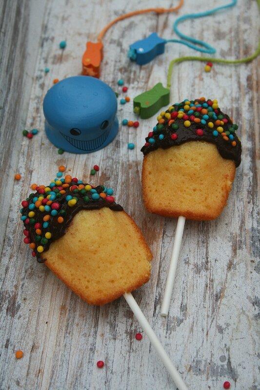 madeleines pops - passion culinaire minouchka