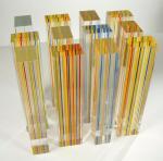 Jean-Yves Staffe - installation 'Hommage aux Hopis 04' (élément en verre de 45 x 10 x 7 cm)