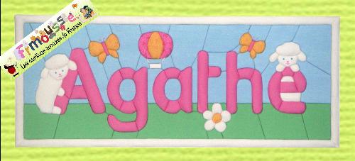 Carton-mousse Agathe