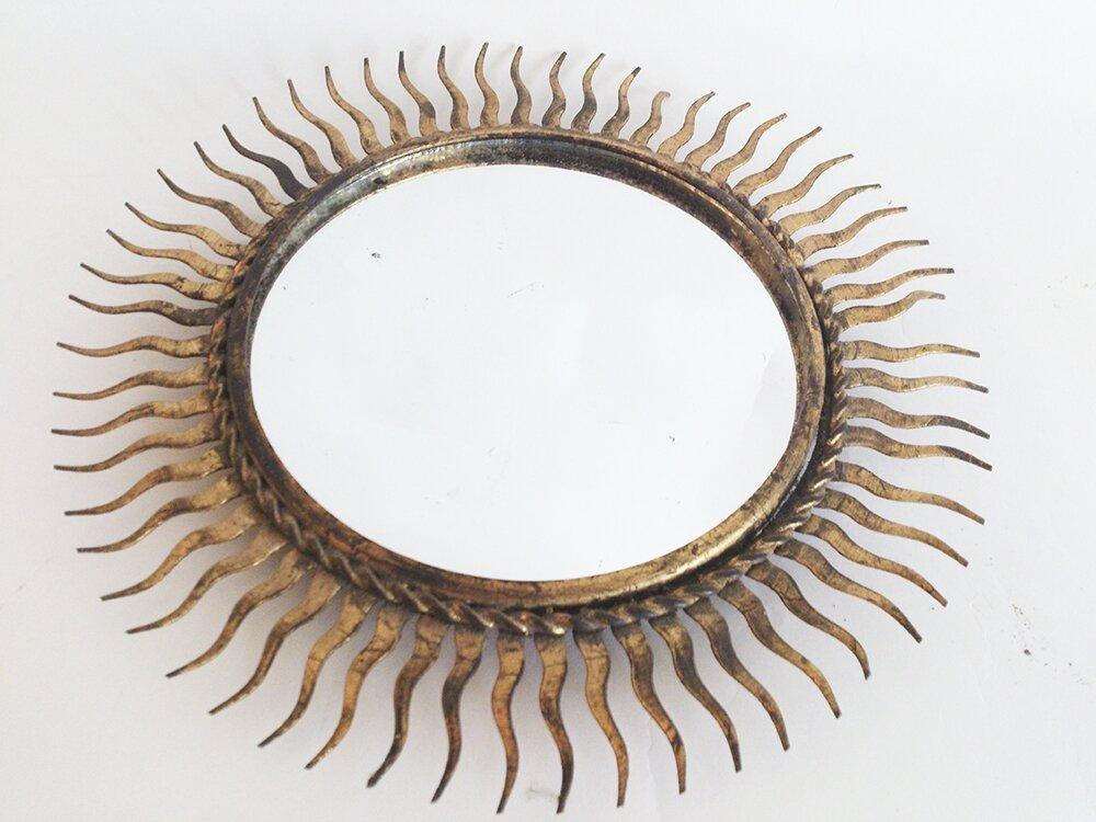 miroir étoile métal