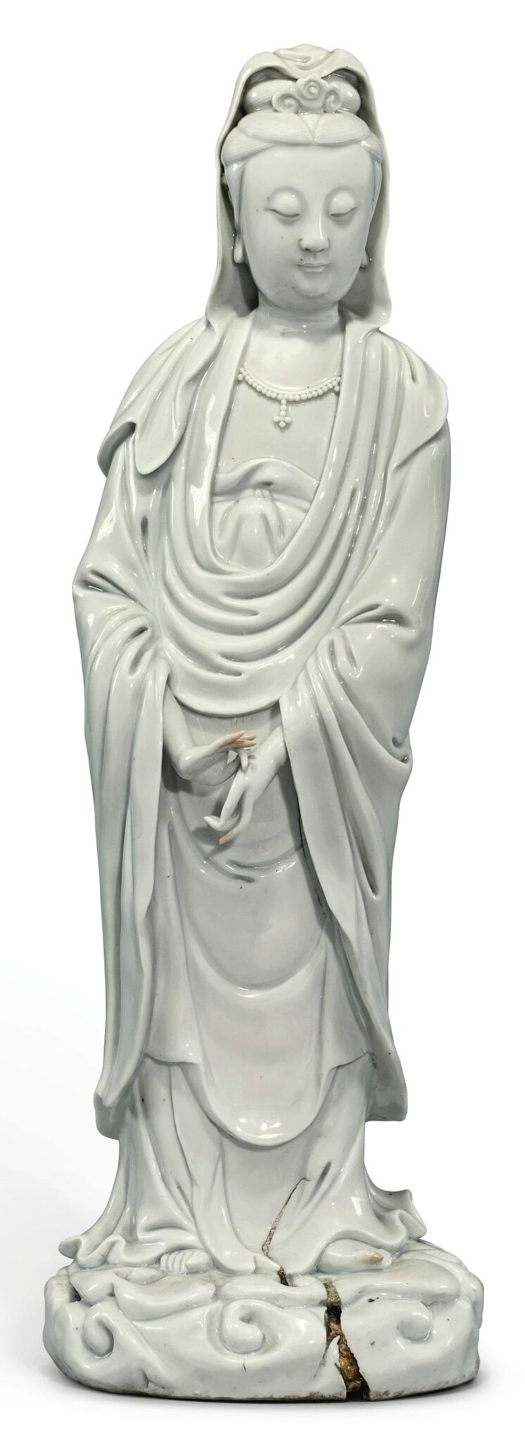 A 'Dehua' figure of Guanyin, Late Ming Dynasty, attributed to Huijiang Shanren