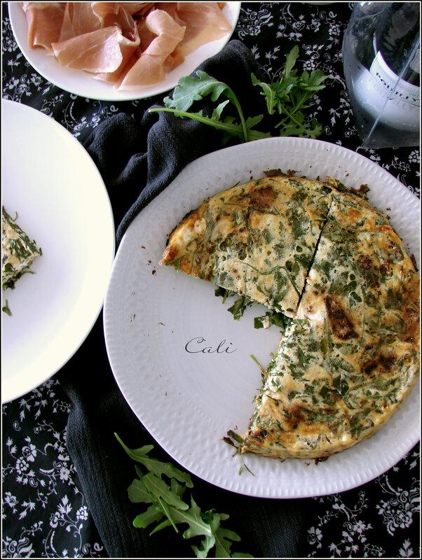 Quiche sans Pâte à la Roquette, Tomates Confites & Feta 002