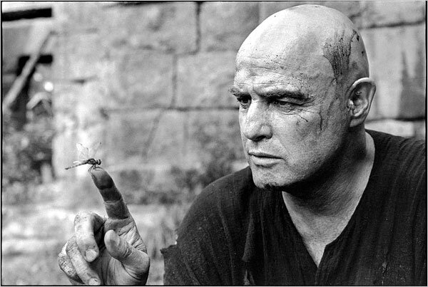 Marlon Brando on the set of Apocalypse Now in 1976