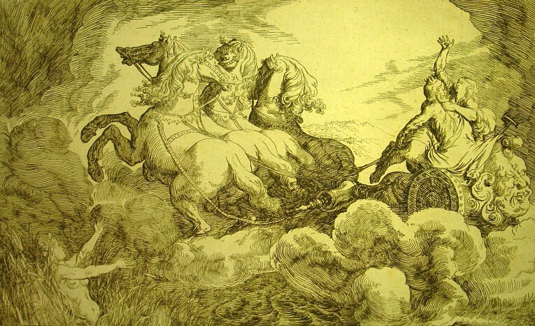 Cyane and Pluto - Johann Wilhelm Bauer 1659