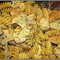 Pâte au chou fleurs et poulet