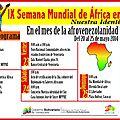 Le vénézuela célèbre la 9ème semaine mondiale de l'afrique du 20 au 25 mai