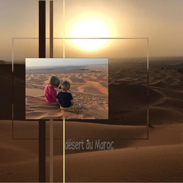 * Pages libres, le désert au Maroc