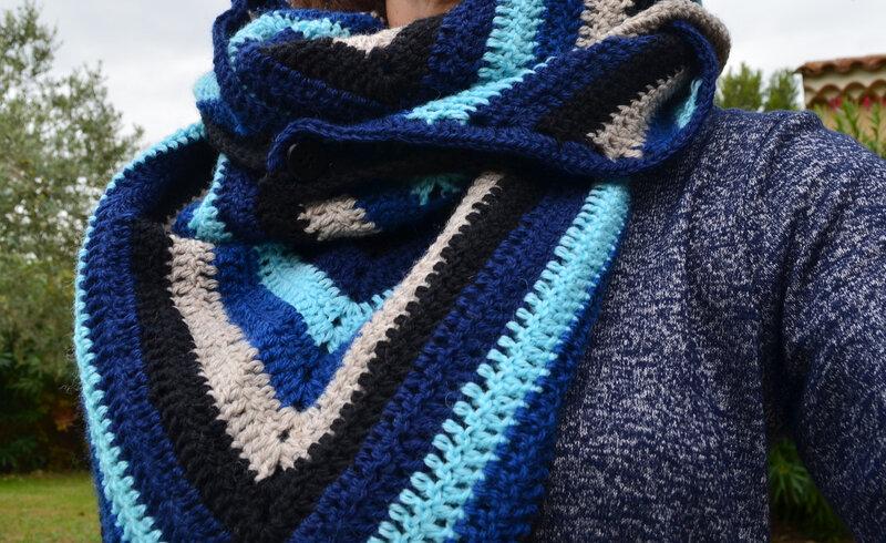 Chèche-châle-homme-crochet-creapassions-La chouette bricole
