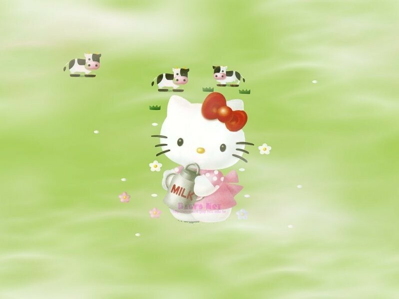 KITTY ELEVE DES VACHES 1