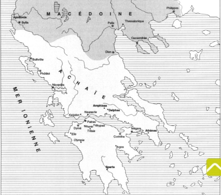 cartes colonies romaines en Grèce zoom