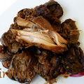 Alboronia ou baranya : poulet aux aubergines et aux oignons confits