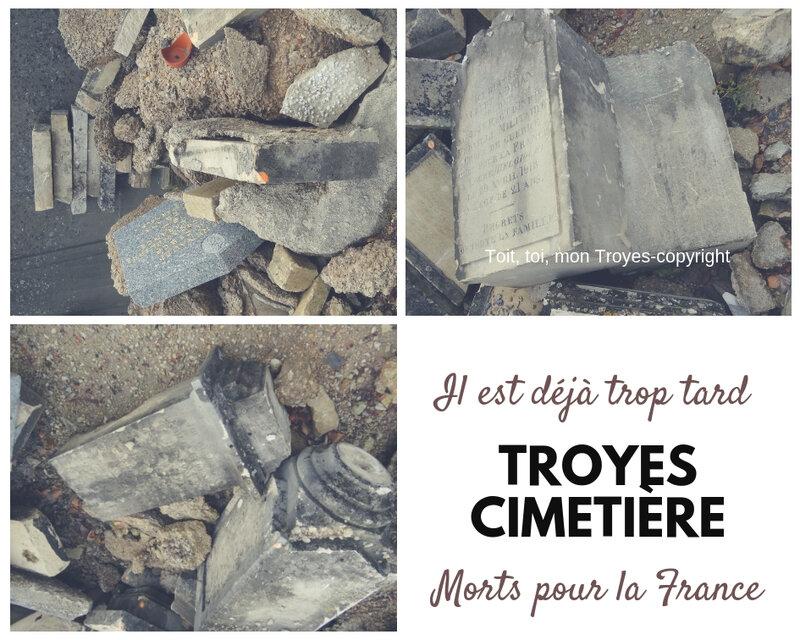 TROYES Cimetière_les chapelles en péril_les morts pour la France