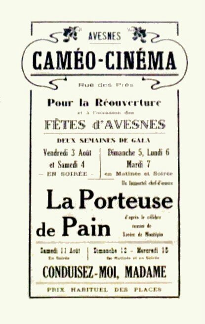 AVESNES-Programme de festivités 1934