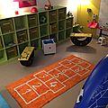 Un tapis pour une salle de jeux