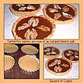 Tartelettes sablées aux noix et au caramel beurre salé