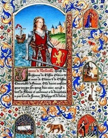 Jeanne-Louise de Belleville, dite la Tigresse bretonne, Lionne bretonne comme les Anglais (The Lion's Britany), la Veuve Clisson, la Tigresse sanglante