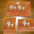 Ensemble plats éléphants