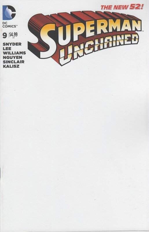 superman unchained 9 blank variant