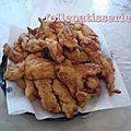Beignet de poulet ou tampura de poulet