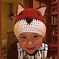 Bonnet renard (enfant 2-3 ans)