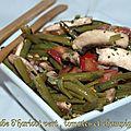 Salade d'haricot vert , tomates et champignons