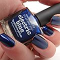 Electric blue-picture polish