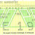 Prince - samedi 9 juillet 1988 - pop bercy (paris)