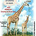Pierre gay évoquera la sauvegarde des girafes du niger ce samedi à saint-mandé