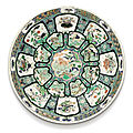 A large famille-verte charger, qing dynasty, kangxi period (1662-1722)