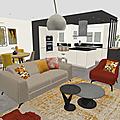 Projet client: une pièce à vivre aux couleurs automnales